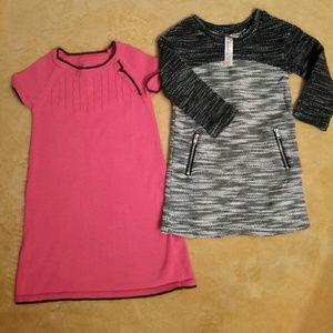 Cherokee Sweater Dress Bundle (Blk & White/Salmon)